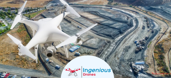 Drone service for construction and development